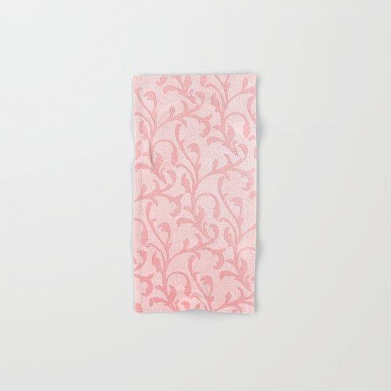 Pretty princess- Pink elegant Damask pattern Hand & Bath Towel