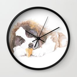 San Bernardo Puppy Wall Clock