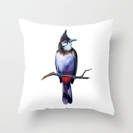 Bird on branch Throw Pillow
