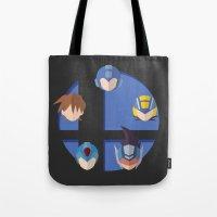 smash bros Tote Bags featuring Megaman Smash Bros. by CmOrigins