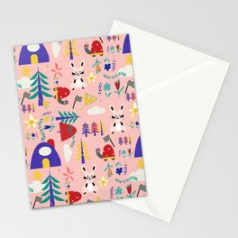 Tortoise and the Hare is one of Aesop Fables pink Stationery Cards