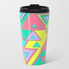 Colorful triangles Metal Travel Mug