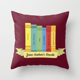 The Jane Austen's Novels III Throw Pillow