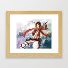 Snk-Mikasa Framed Art Print