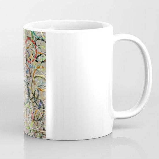 Rainbow Circles Collage Mug