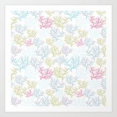 Pink Corals Art Print