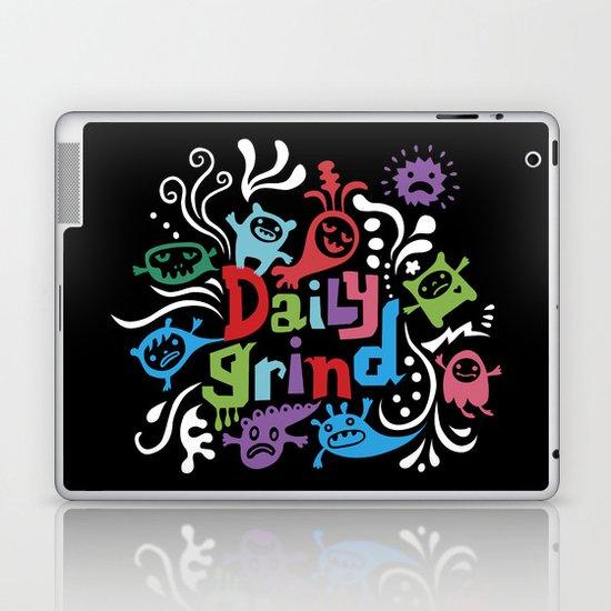 Daily Grind - black Laptop & iPad Skin