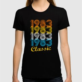 34th Birthday Gift Vintage 1983 T Shirt For Men Women Shirts And