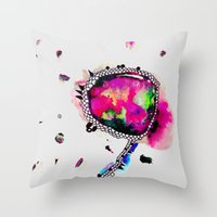 voyage Throw Pillows featuring voyage by Georgiana Paraschiv