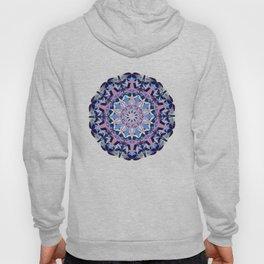 blue grey white pink purple mandala Hoody