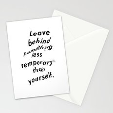 Leave something behind Stationery Cards
