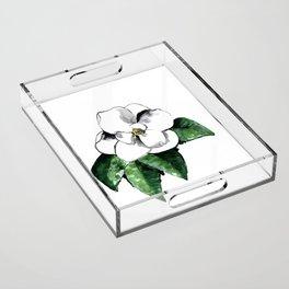 White magnolia Acrylic Tray