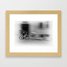 Cyclist Framed Art Print