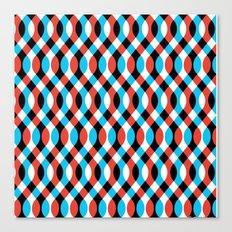 Blue Brain Waves Canvas Print