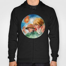 Sophie and Howl from Howl's Moving Castle Tra-Digital Painting Hoody