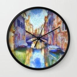 Venice - watercolor - signed Wall Clock