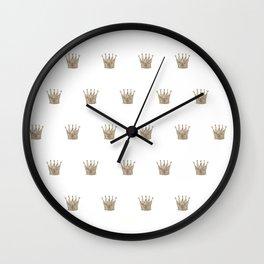 Vintage Crown Pattern Wall Clock