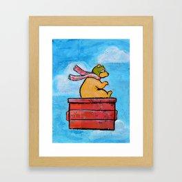 The Brown Bearon Framed Art Print