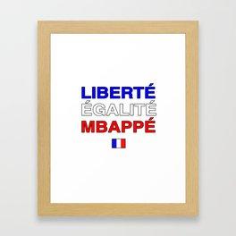 Liberté Egalité Kylian Mbappé Framed Art Print