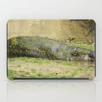 hippo iPad Cases featuring hippo by Mathilde Nieuwenhuis