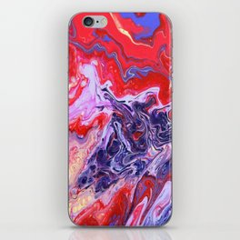 Red and Purple Cosmos iPhone Skin