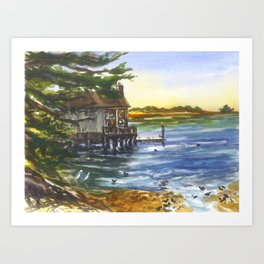 Lucas Wharf at Bodega Bay Art Print