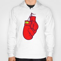 boxing Hoodies featuring Boxing Gloves by Artistic Dyslexia