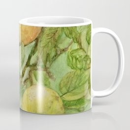 Bird in Apple Tree with Apples - Watercolor on Panel - Laurie Rohner Coffee Mug