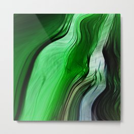 Liquid Grass Metal Print