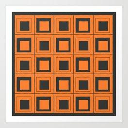 Orange Squares Art Print