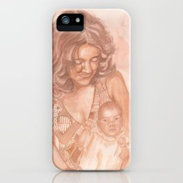 Mom and me iPhone Case