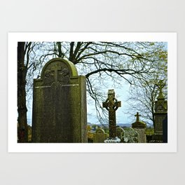 The Graveyard at Monasterboice Art Print