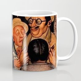 Classical Masterpiece 'Night of the Rich' by Diego Rivera Coffee Mug