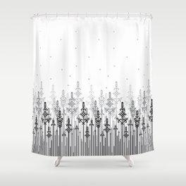 White field Shower Curtain