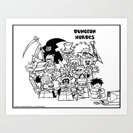 Dungeon Hordes Group Shot. Art Print