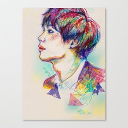 Colorful SHINee Taemin  Canvas Print