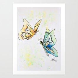 Butterfly Lovers Art Print
