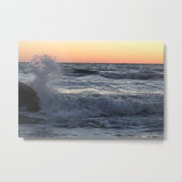 On The Rocks At Dusk At Fort DeSoto Beach Metal Print