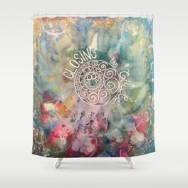 Closing the Circle Shower Curtain