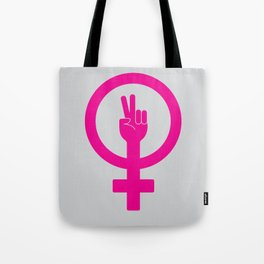 Peace and Girl Power! Tote Bag