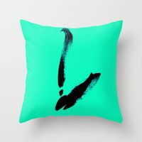 swan Throw Pillows featuring swan by berg with ice