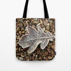 Frozen Leaf Tote Bag