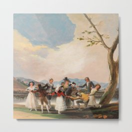 "Francisco Goya ""Blind Man's Buff"" Metal Print"