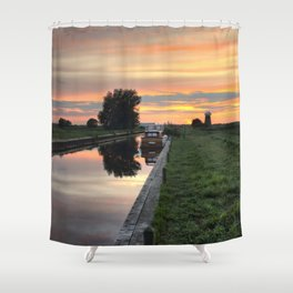 West Somerton Sunset Shower Curtain