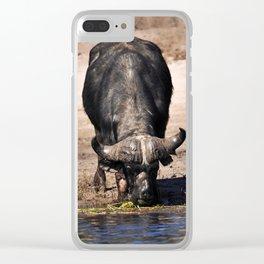 Cape Buffalo. Clear iPhone Case