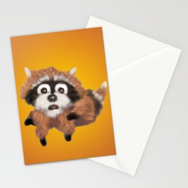Raccoon Series: Running Scared Stationery Cards
