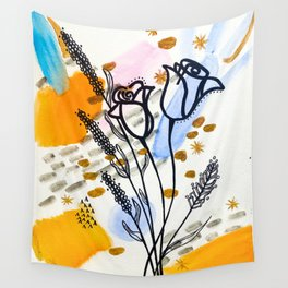 Homebody Floral Wall Tapestry