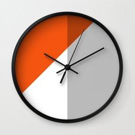 Orange Colorblock  Wall Clock