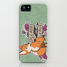 please leave iPhone Case