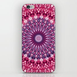 Pink and violet mandala iPhone Skin